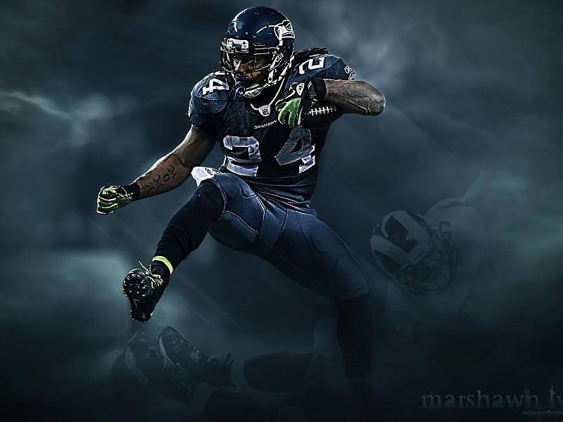 Seahawks Marshawn Lynch Wallpaper free desktop backgrounds and
