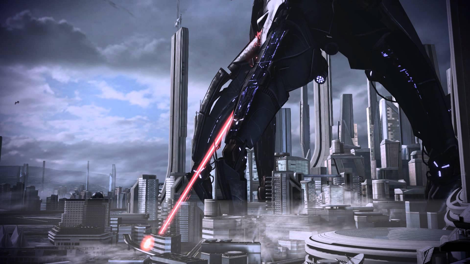 Mass Effect 3 Earth Vancouver Reaper Dreamscene Video Wallpaper