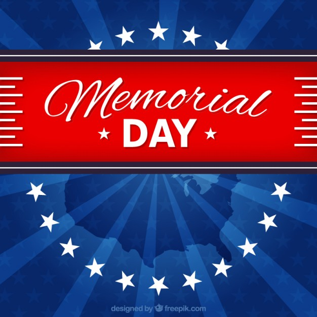 Patriotic background for memorial day Vector | Free Download