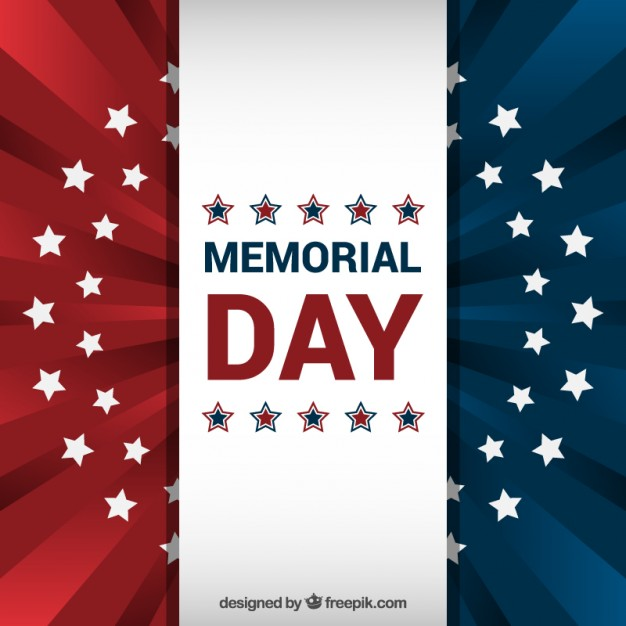 American flag background for memorial day Vector | Free Download