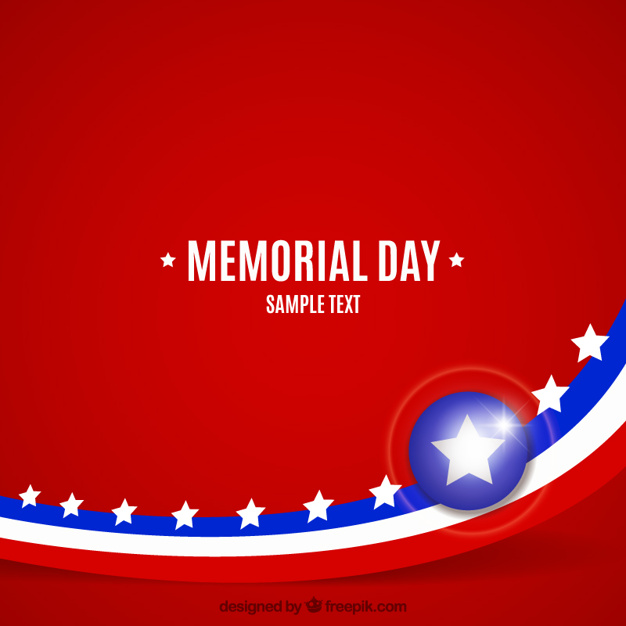 Background of memorial day Vector | Free Download