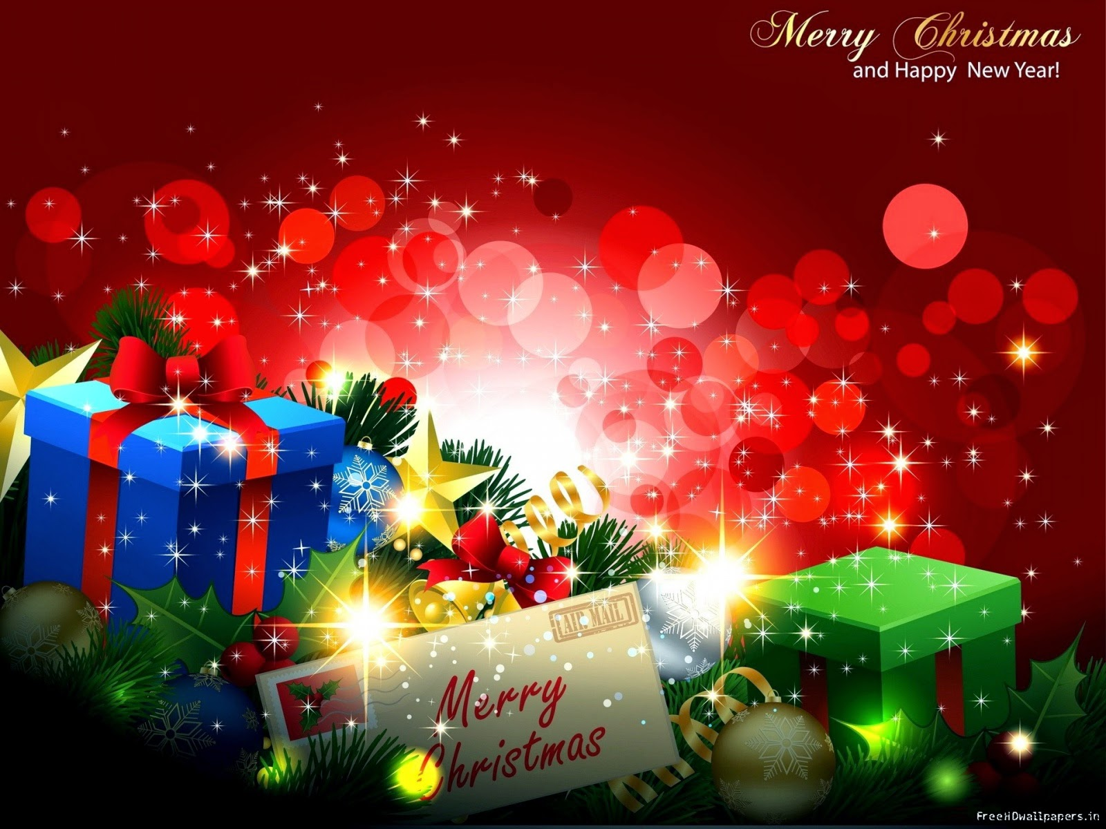 Merry Christmas And Happy New Year Wallpaper Sf Wallpaper