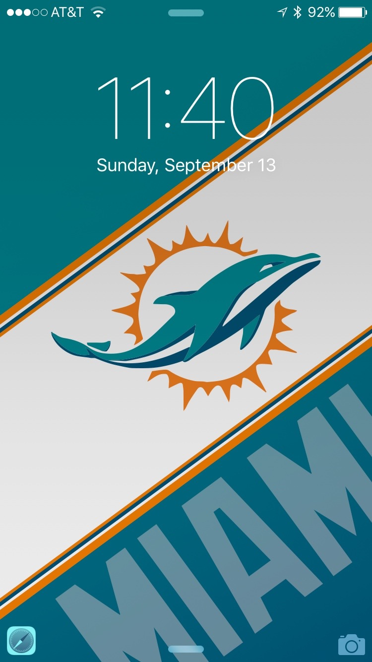 Dolphins iPhone 6 Wallpaper (link in comments) : miamidolphins