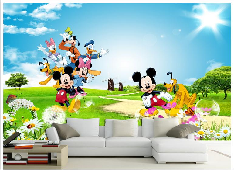Popular Mickey Mouse 3d Wallpaper-Buy Cheap Mickey Mouse 3d