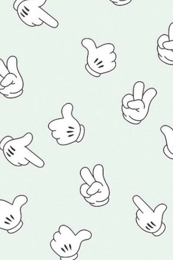 Mickey Mouse hand gestures | iPhone wallpaper | fotos lindas