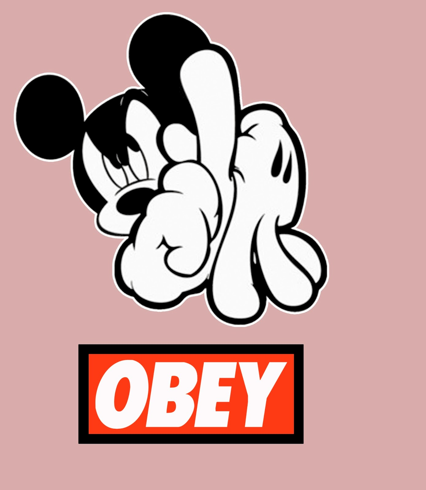 Keywords Obey Mickey Mouse Hands Wallpaper and Tags