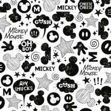 Disney wallpaper  Black and white Mickey Mouse wallpaper  Pattern