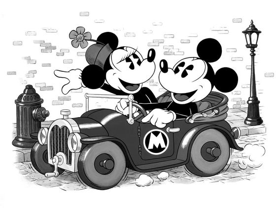 Mickey Mouse Wallpaper Black And White HD Skilal #802023 | Skulls