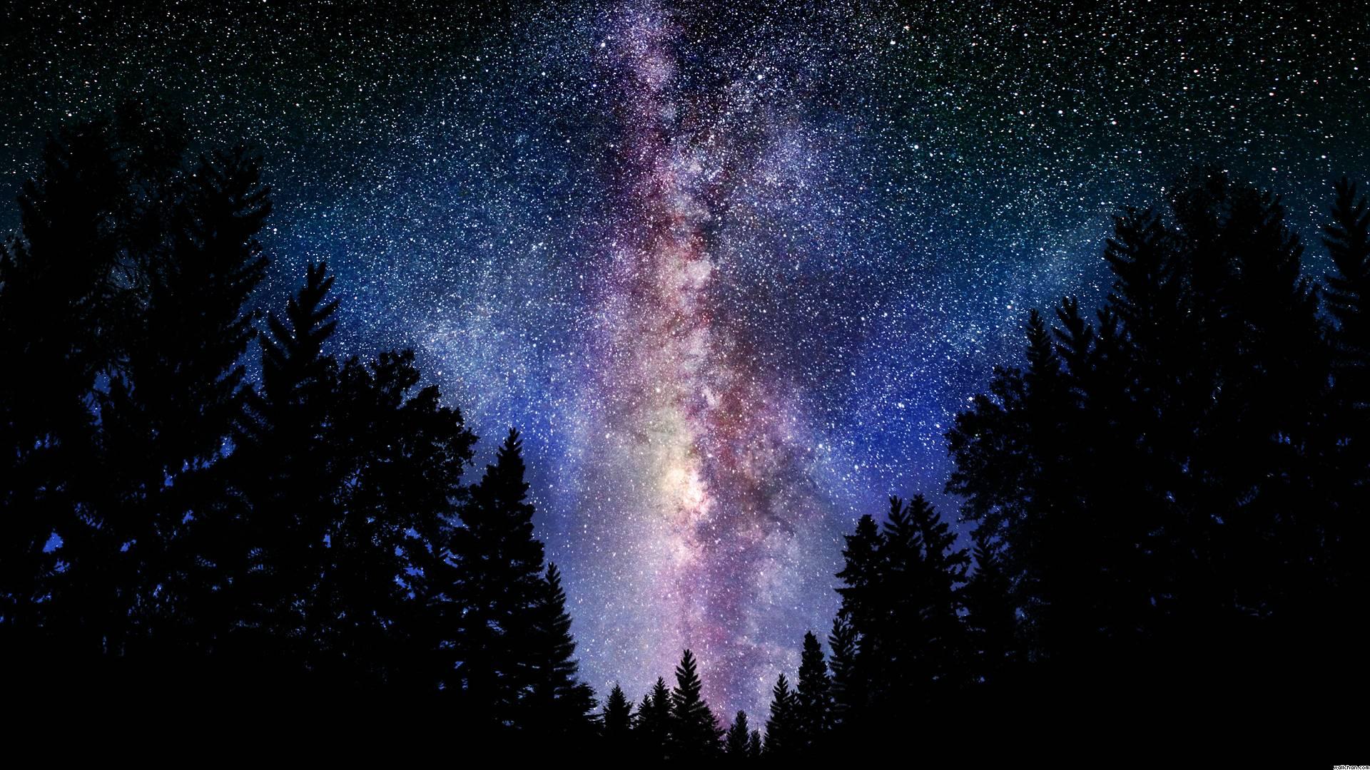 Milky Way Galaxy Desktop Wallpaper - WallpaperSafari
