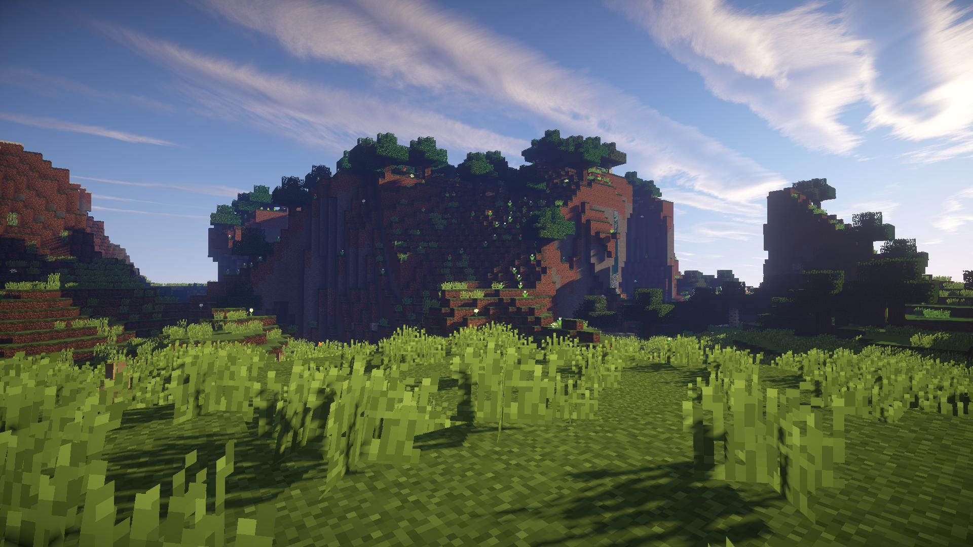 Minecraft shaders background Group (86+)