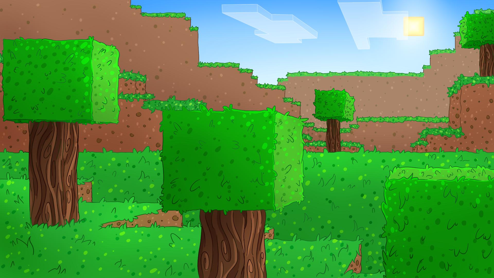 Minecraft Background by DoritoDemon2 on DeviantArt