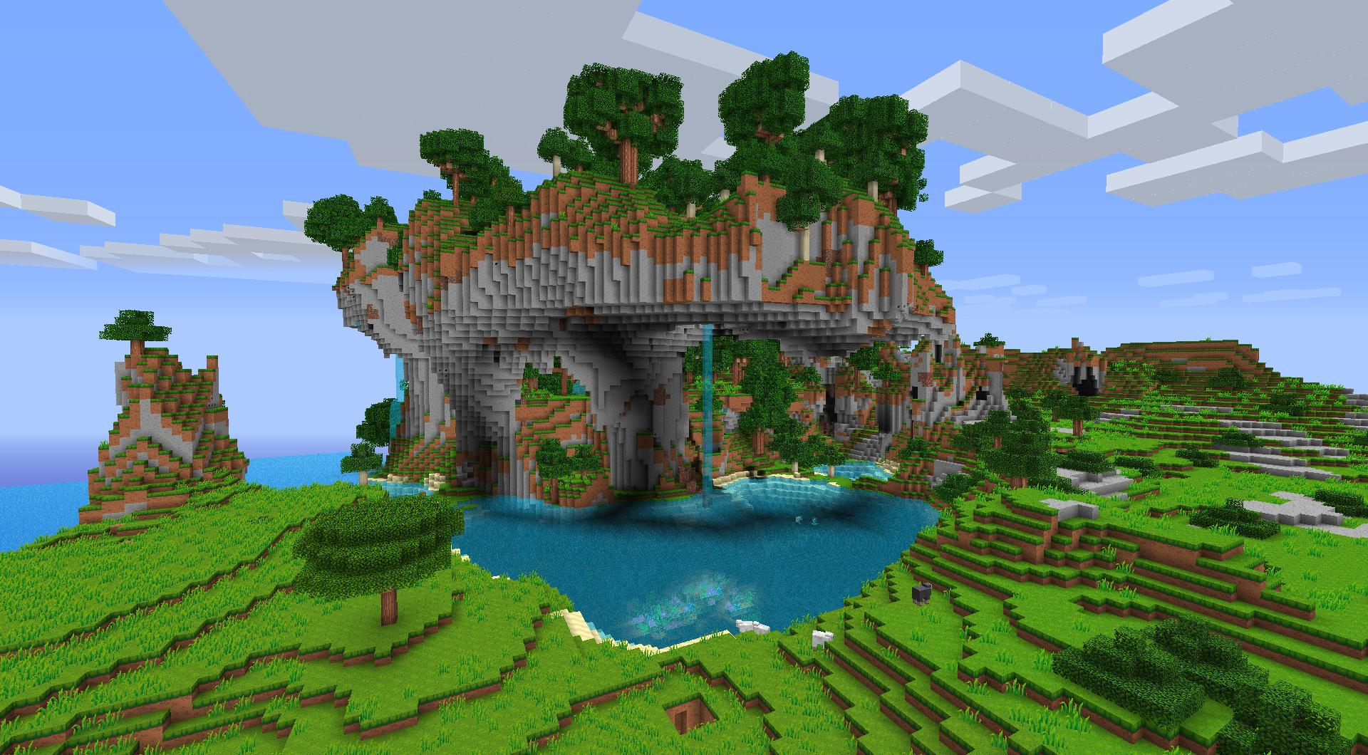 Top Wallpaper Minecraft Plain - minecraft-scenery-wallpaper-25  Collection_94241.jpg