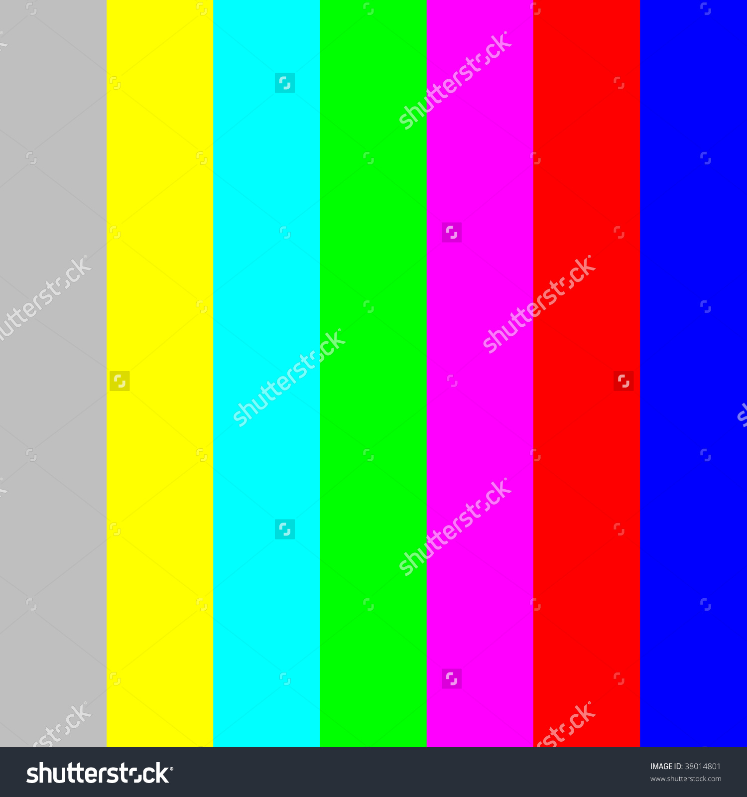 Color Bars Tv Screen Monitor Calibration Stock Illustration