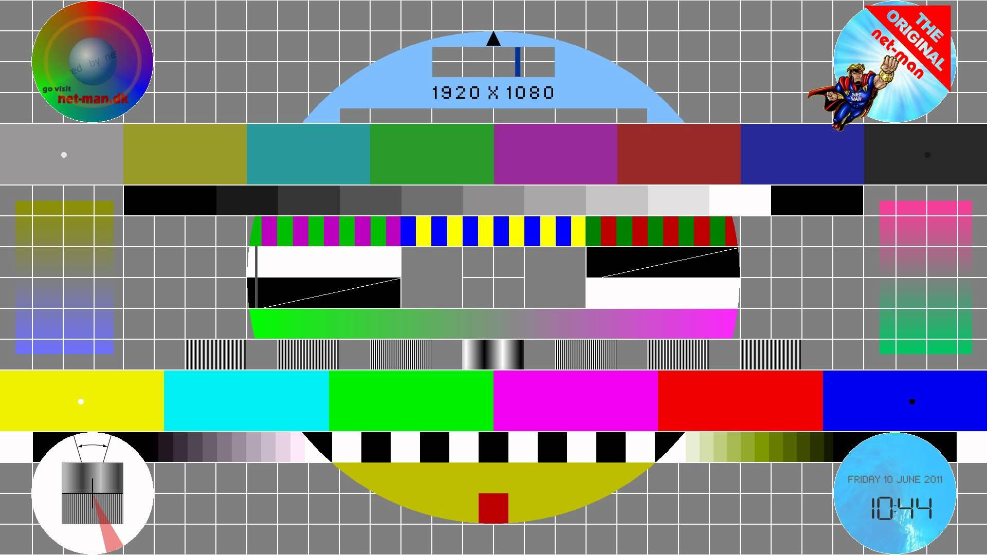 Test pattern & monitor calibration chart - YouTube