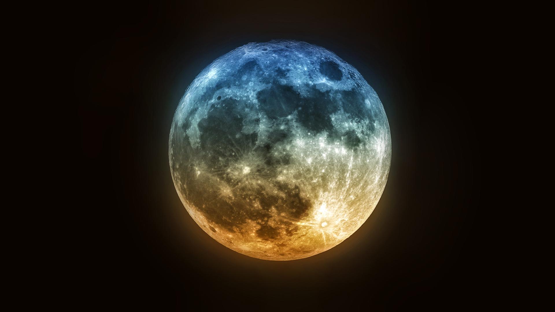 Beautiful Night Moon Photos HD Wallpaper Free
