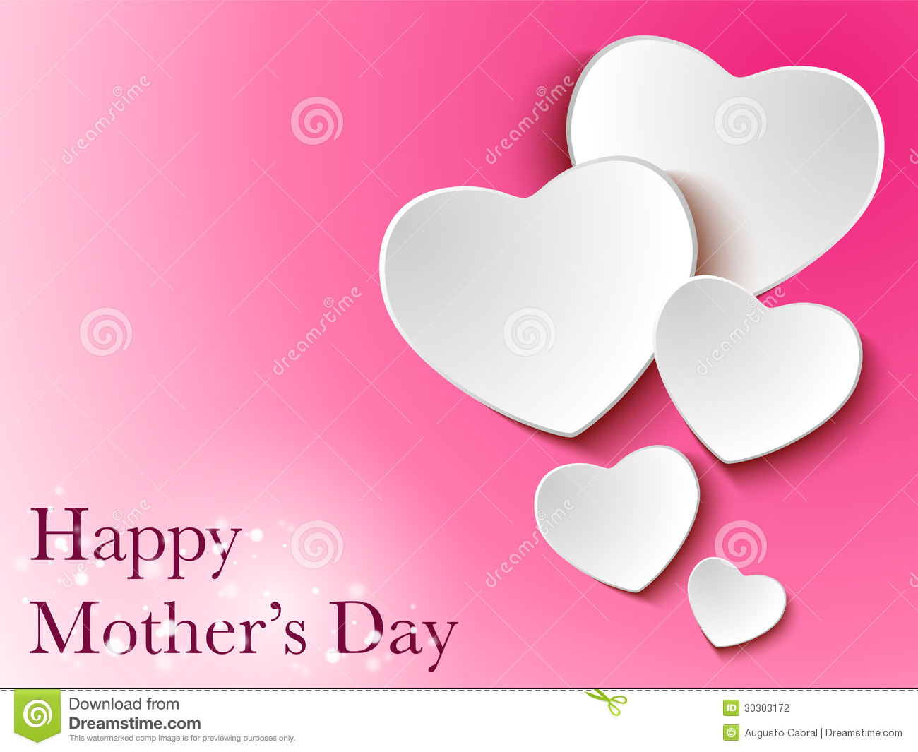 Happy Mother Day Heart Background Stock Photography - Image: 30303172