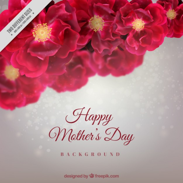 Floral mother's day background Vector | Free Download