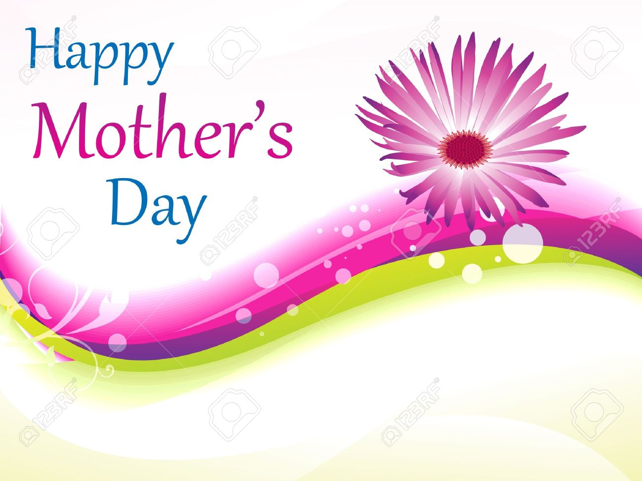 Abstract Mother's Day Background Vector Illustration Royalty Free