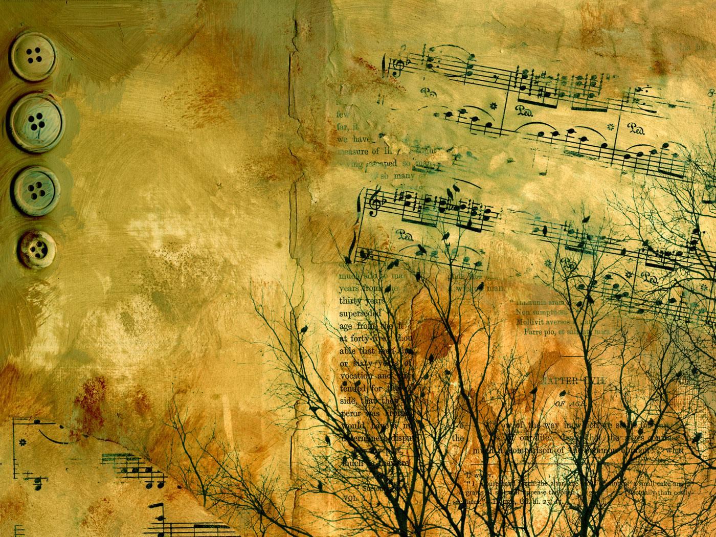Music notes wallpaper - SF Wallpaper