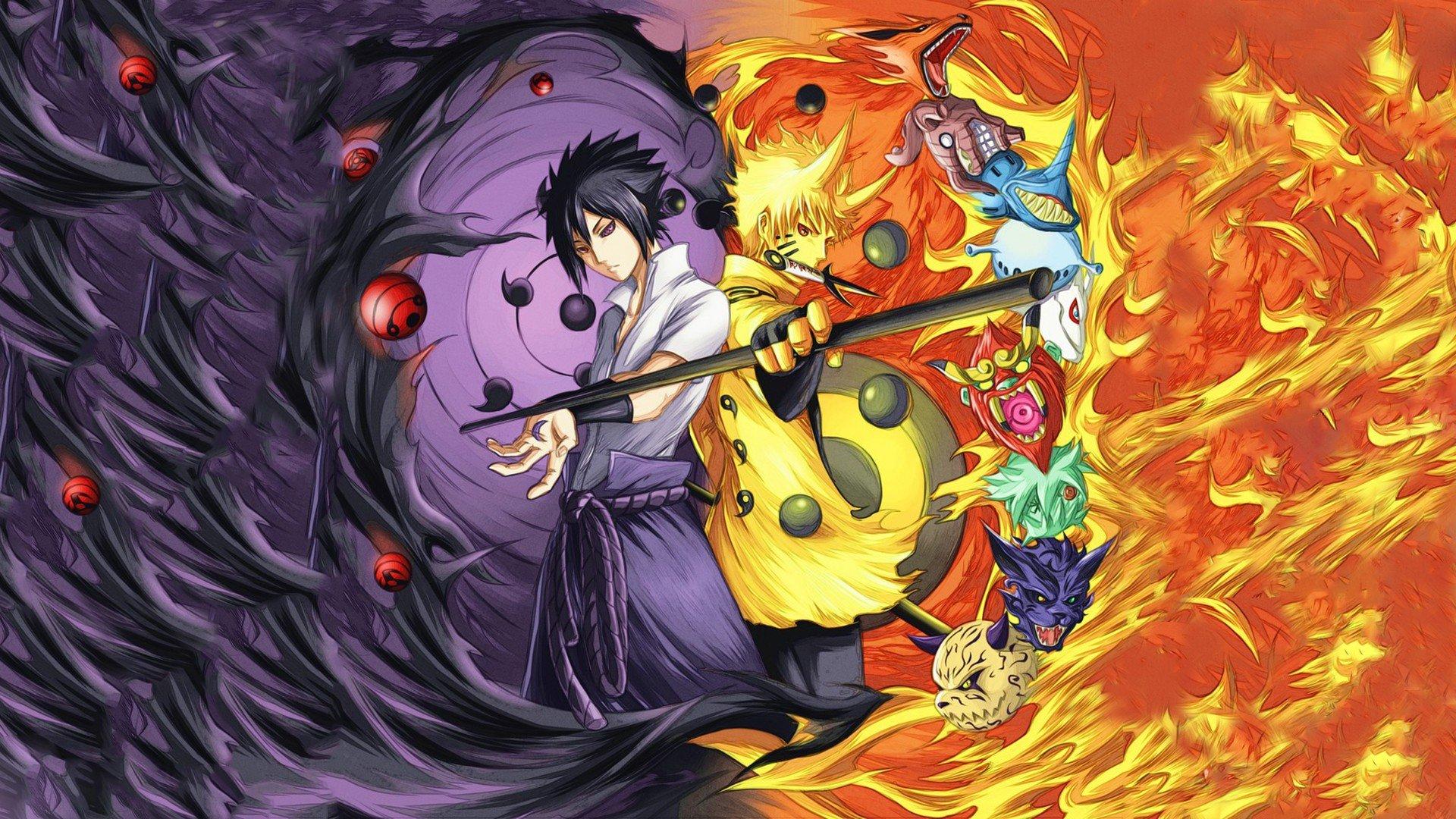 Anime Naruto Shippuuden Naruto Uzumaki Naruto Uchiha