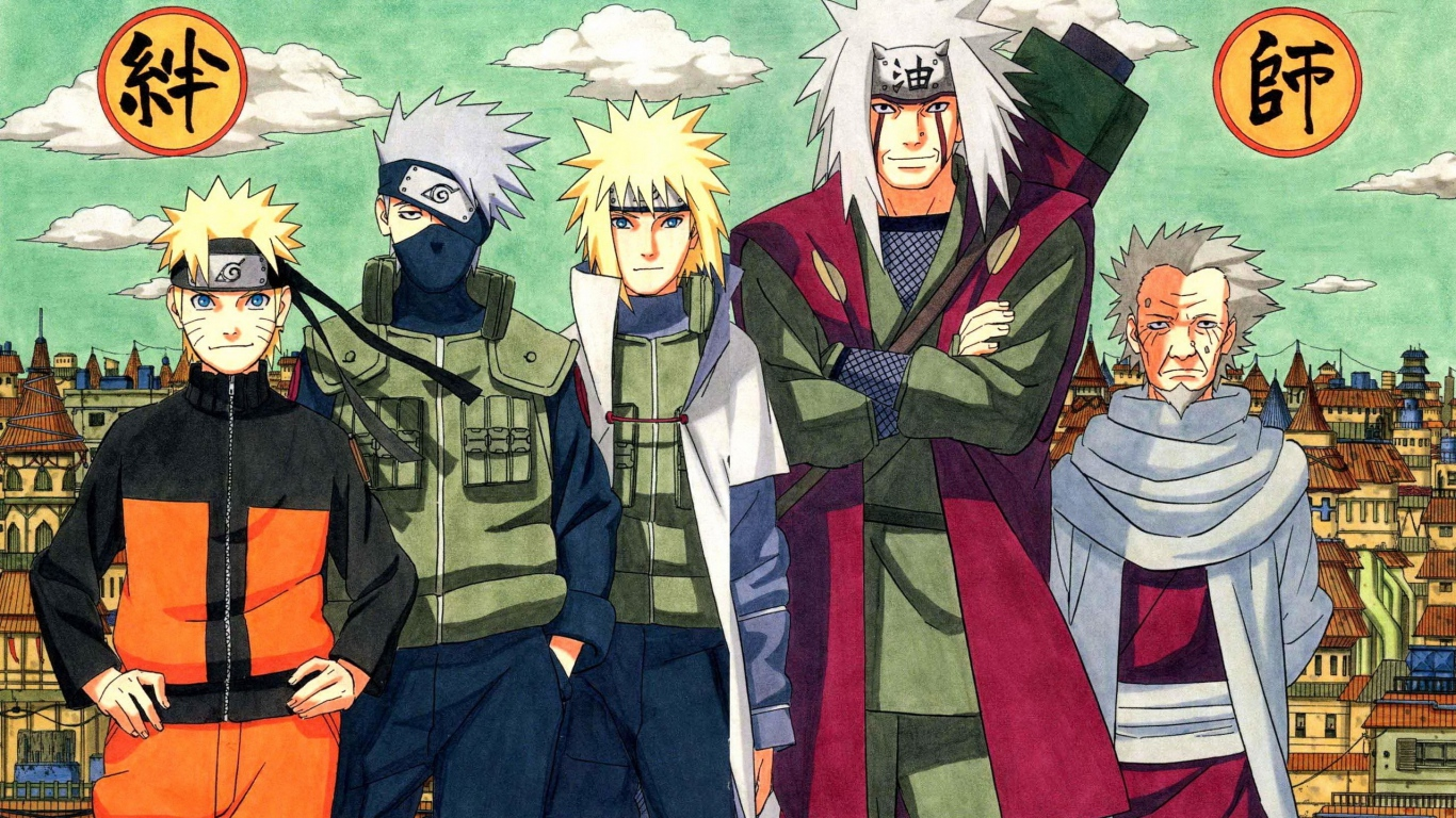 HD Background Naruto Shippuden Boys Kakashi Yondaime Namikaze