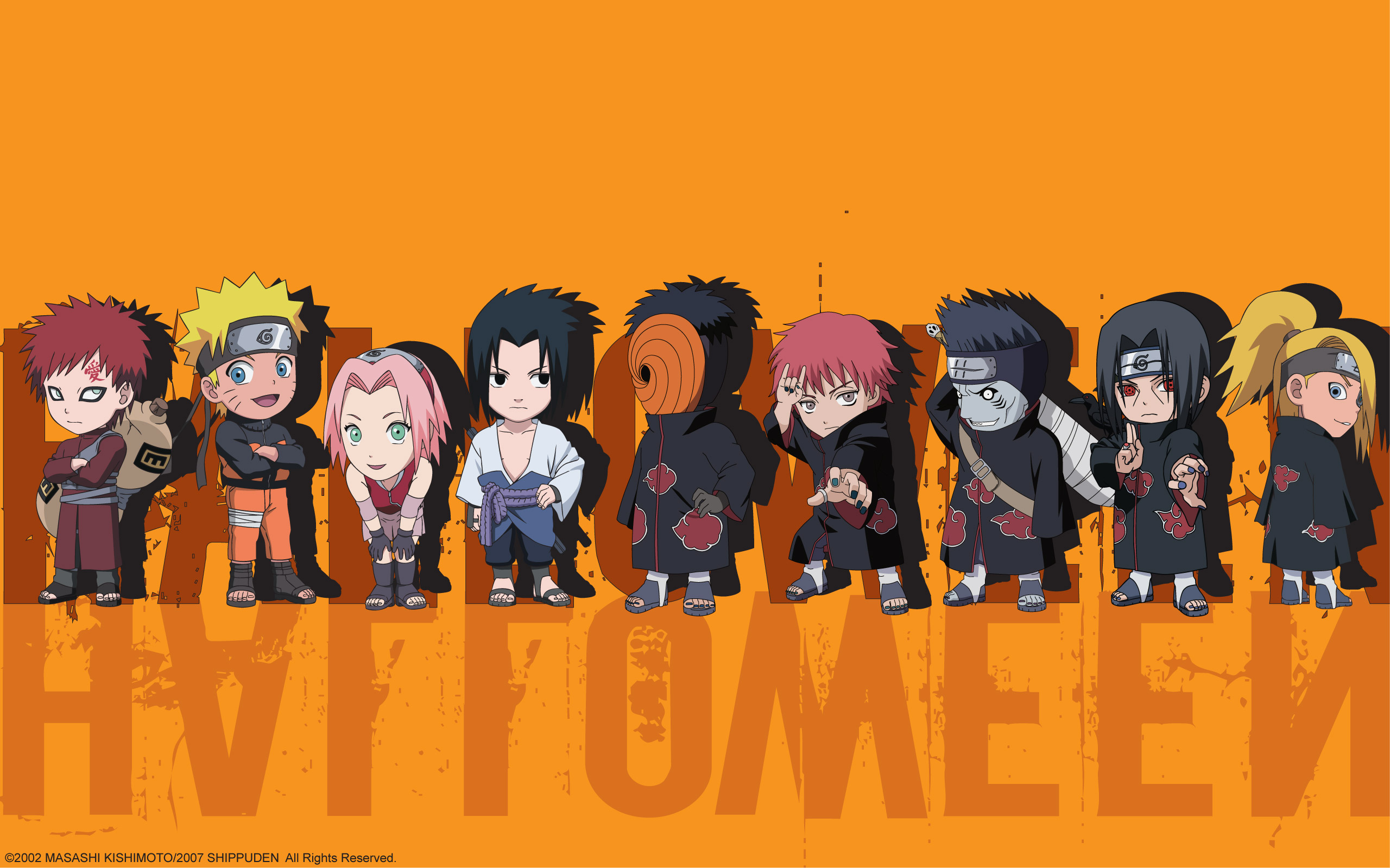 Download Naruto Shippuden Chibis Uchiha Obito Wallpaper 2560x1600