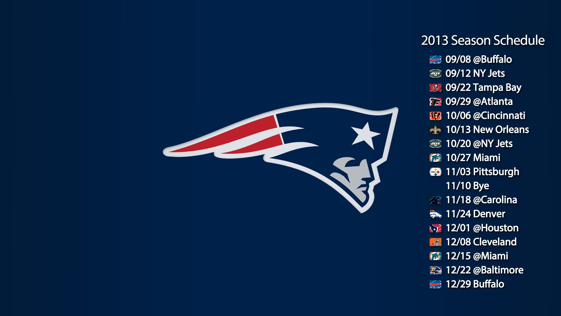 New England Patriots Logo Wallpaper