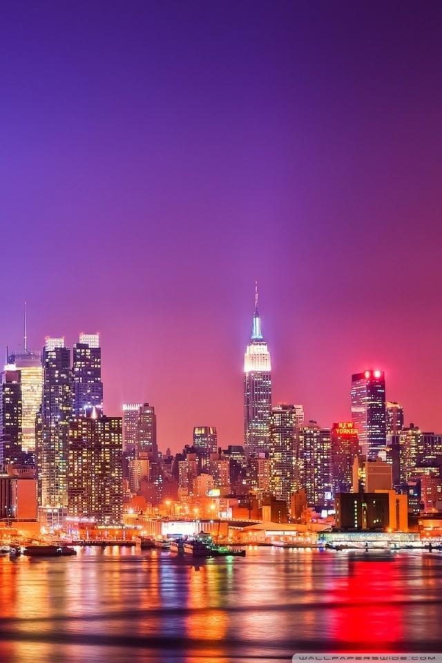 New York At Night Wallpaper Sf Wallpaper
