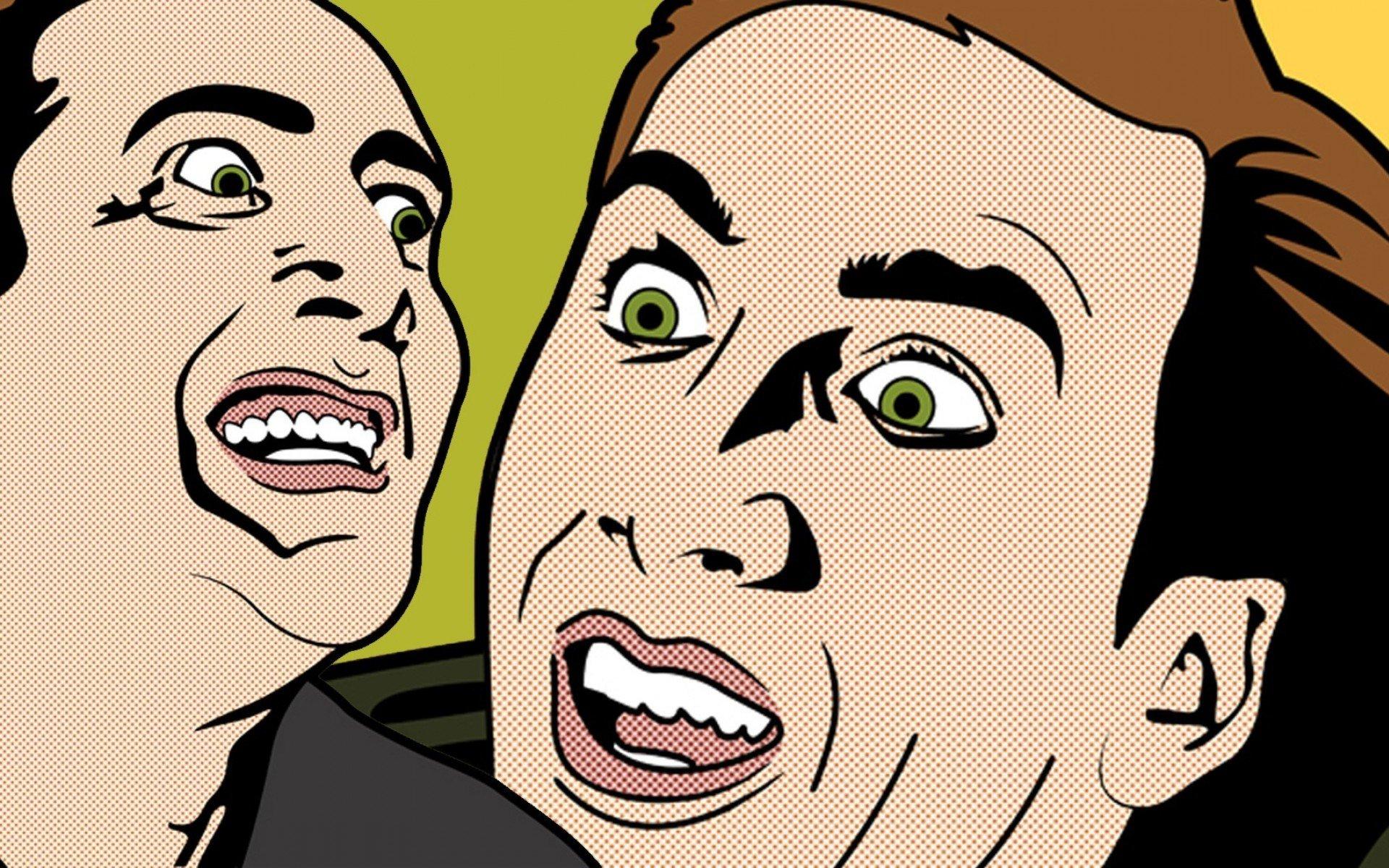 Nicolas Cage Pop Art Wallpaper