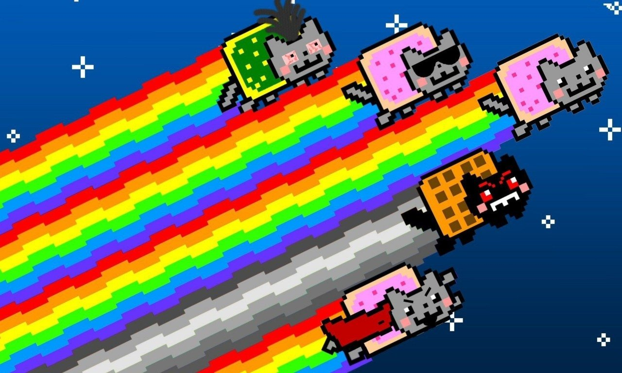 2 Nyan Cat HD Wallpapers | Backgrounds - Wallpaper Abyss