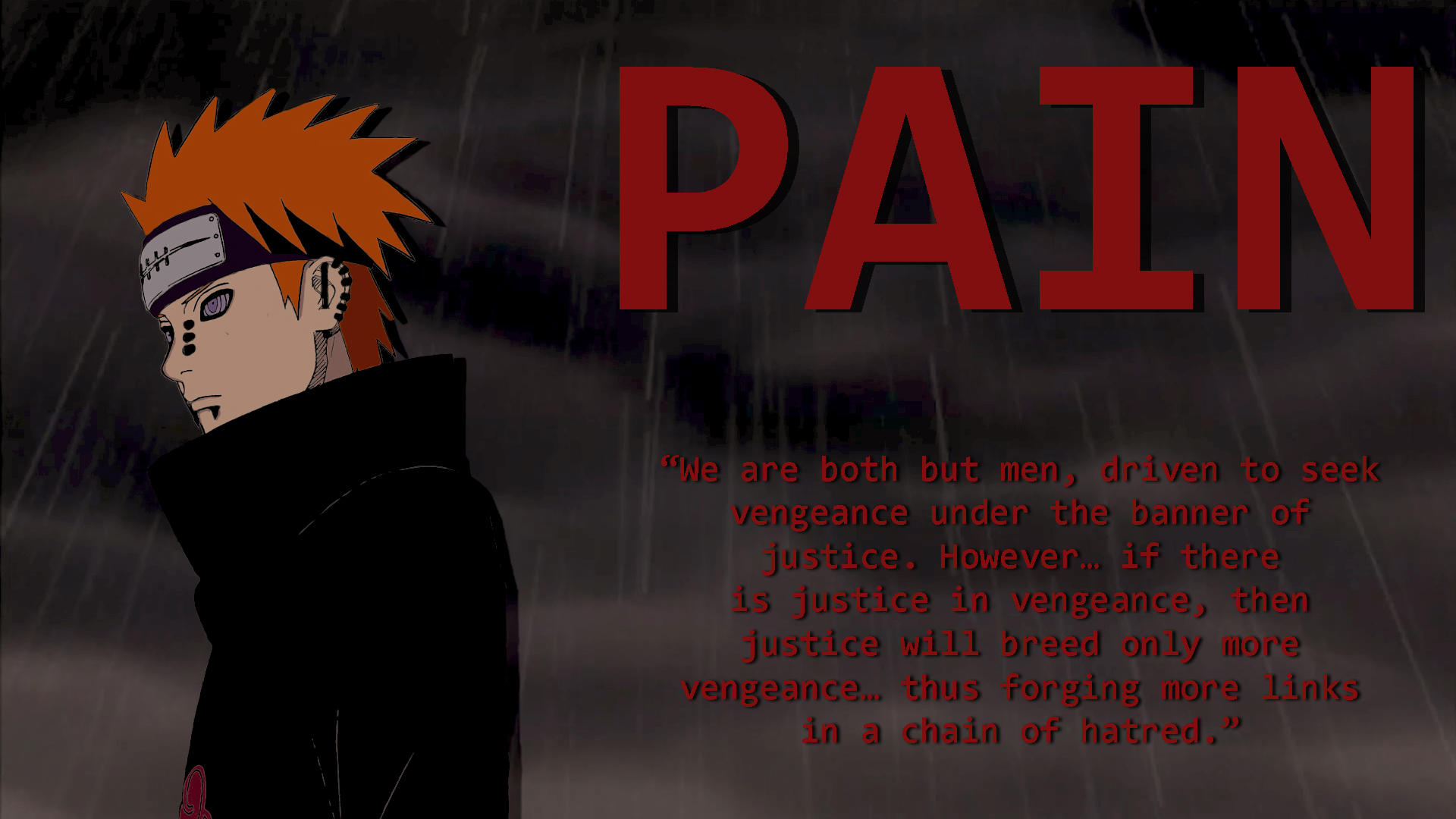 Pain wallpaper (Fixed Text) by Blaze-5555 on DeviantArt