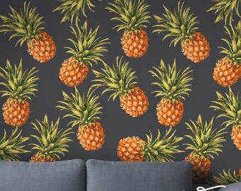 Pineapple wallpaper | Etsy