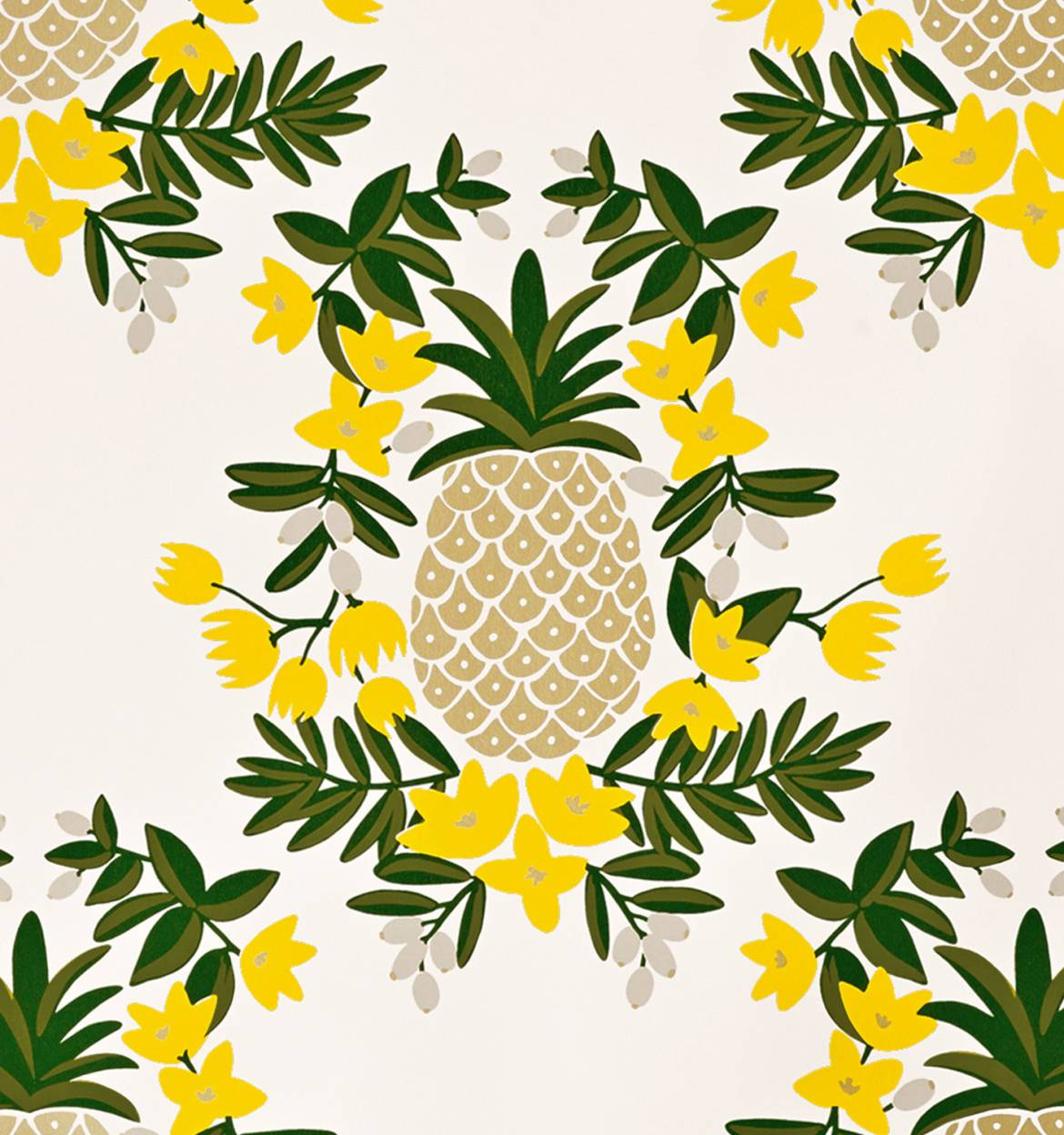 Pineapple (Yellow) Wallpaper by RIFLE PAPER Co  | Made in USA