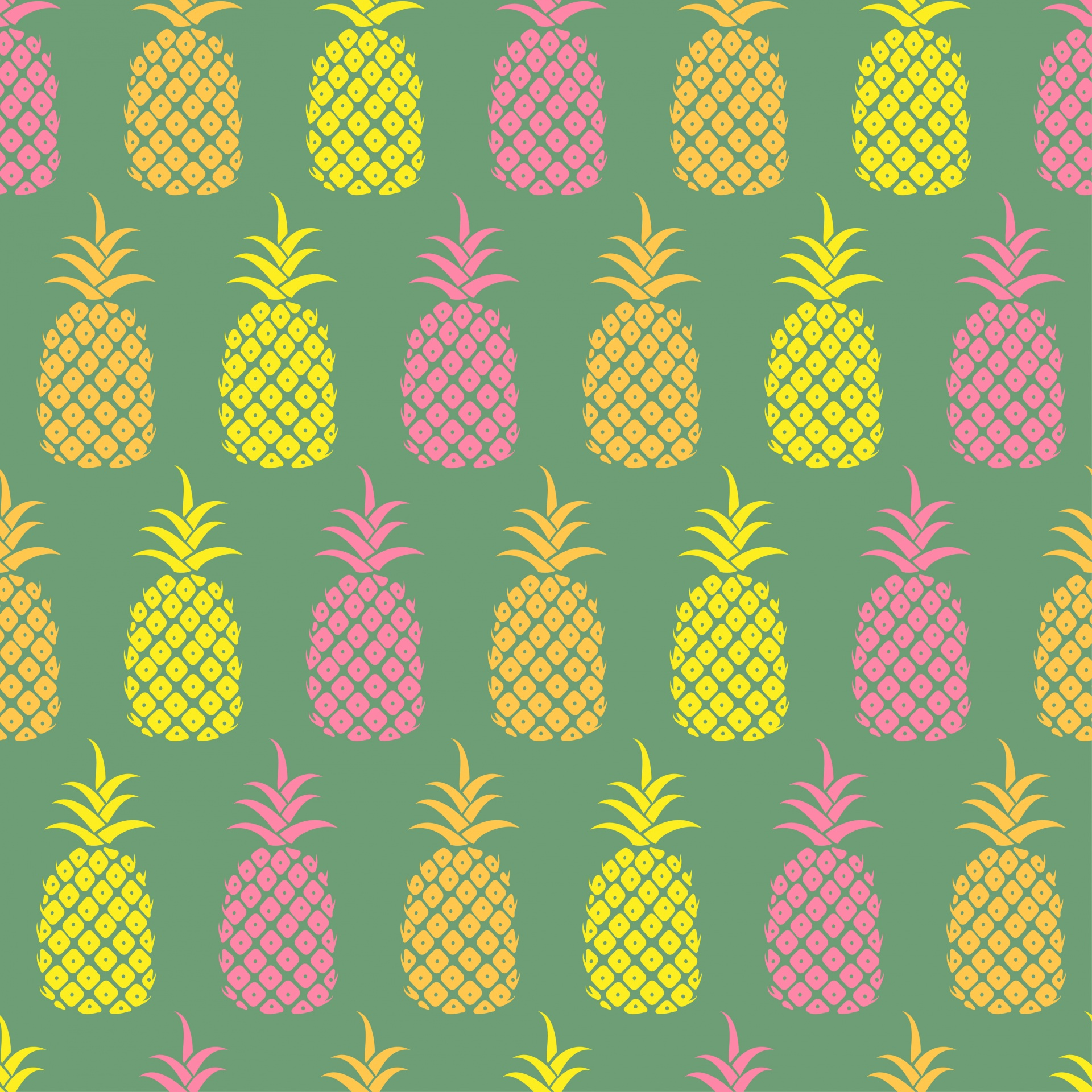 Pineapple Wallpaper Pattern Free Stock Photo - Public Domain Pictures