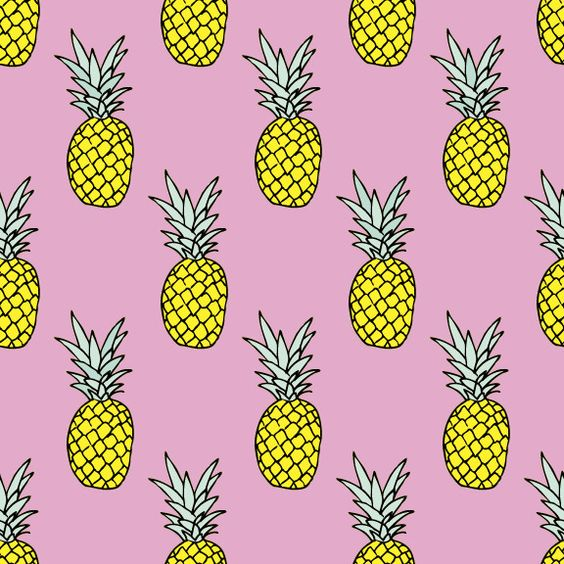 Pineapple Party Removable Wallpaper Decal | Baskets | Pinterest