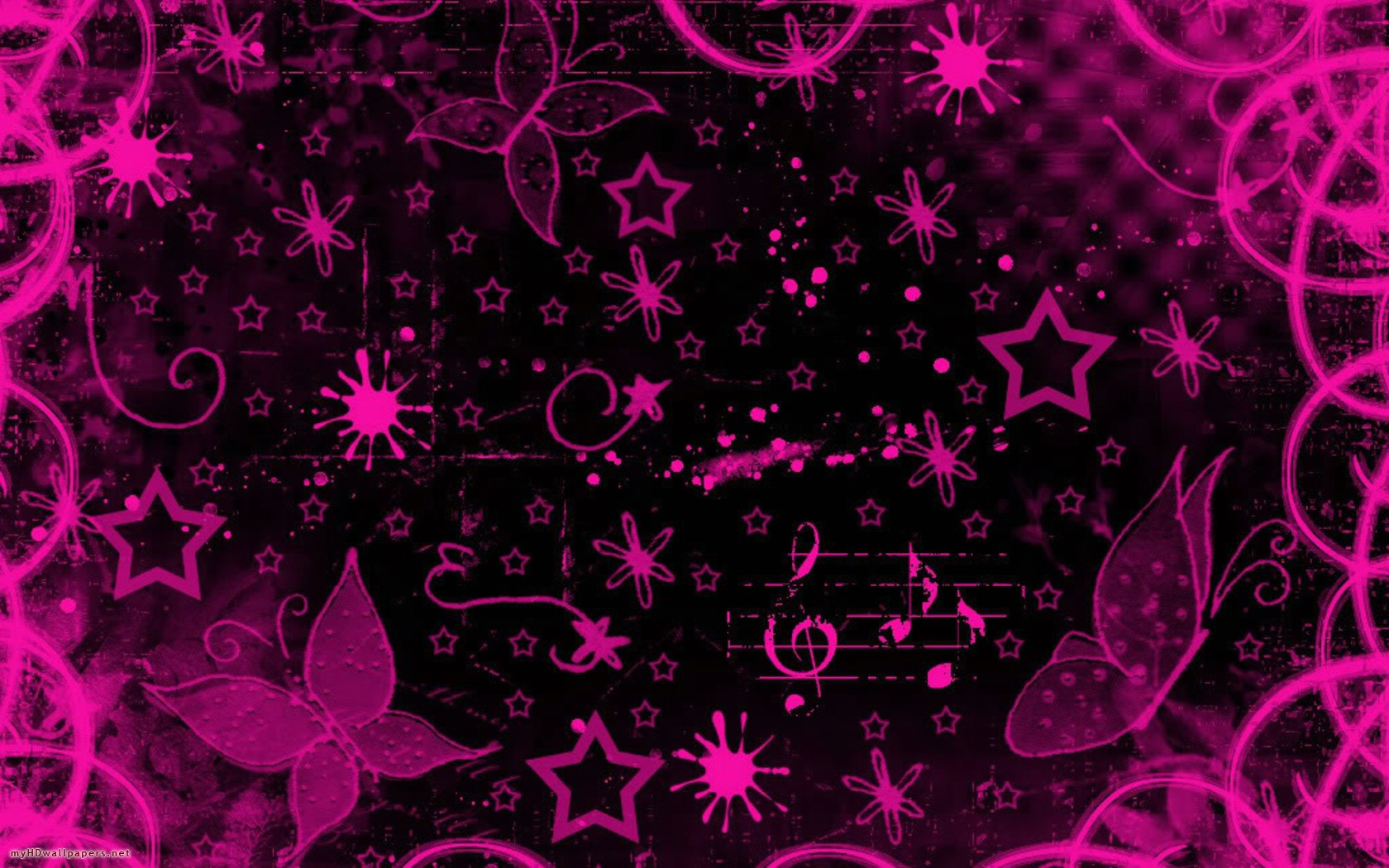 Pink And Black Wallpaper Wallpapersafari