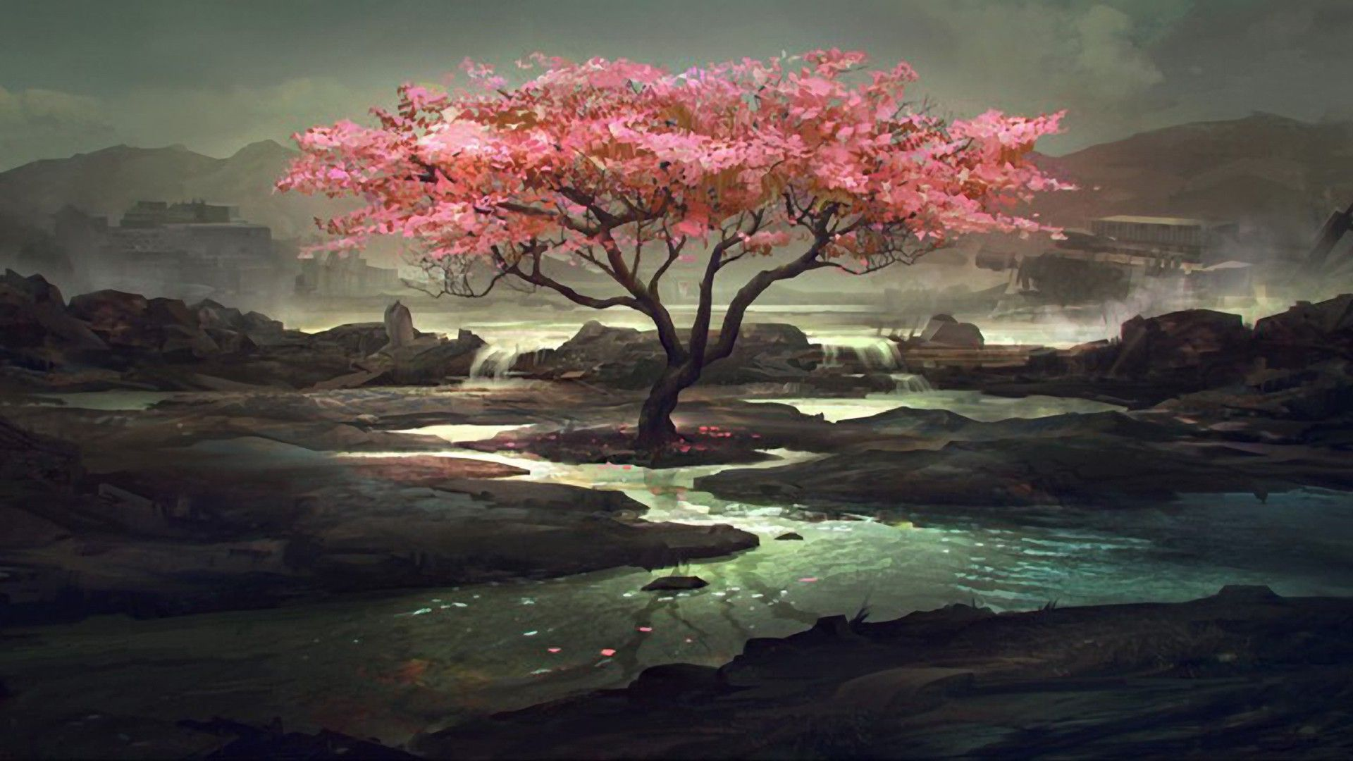 Pink Trees Wallpaper