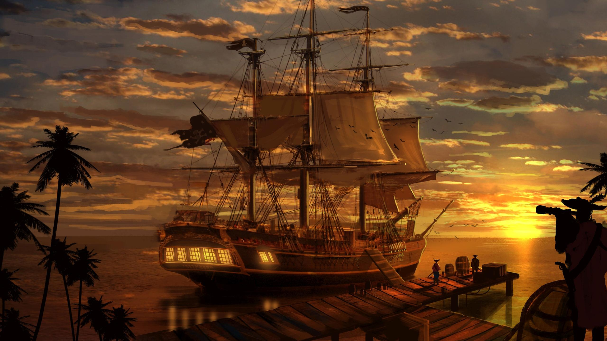 pirate ship wallpaper - sf wallpaper