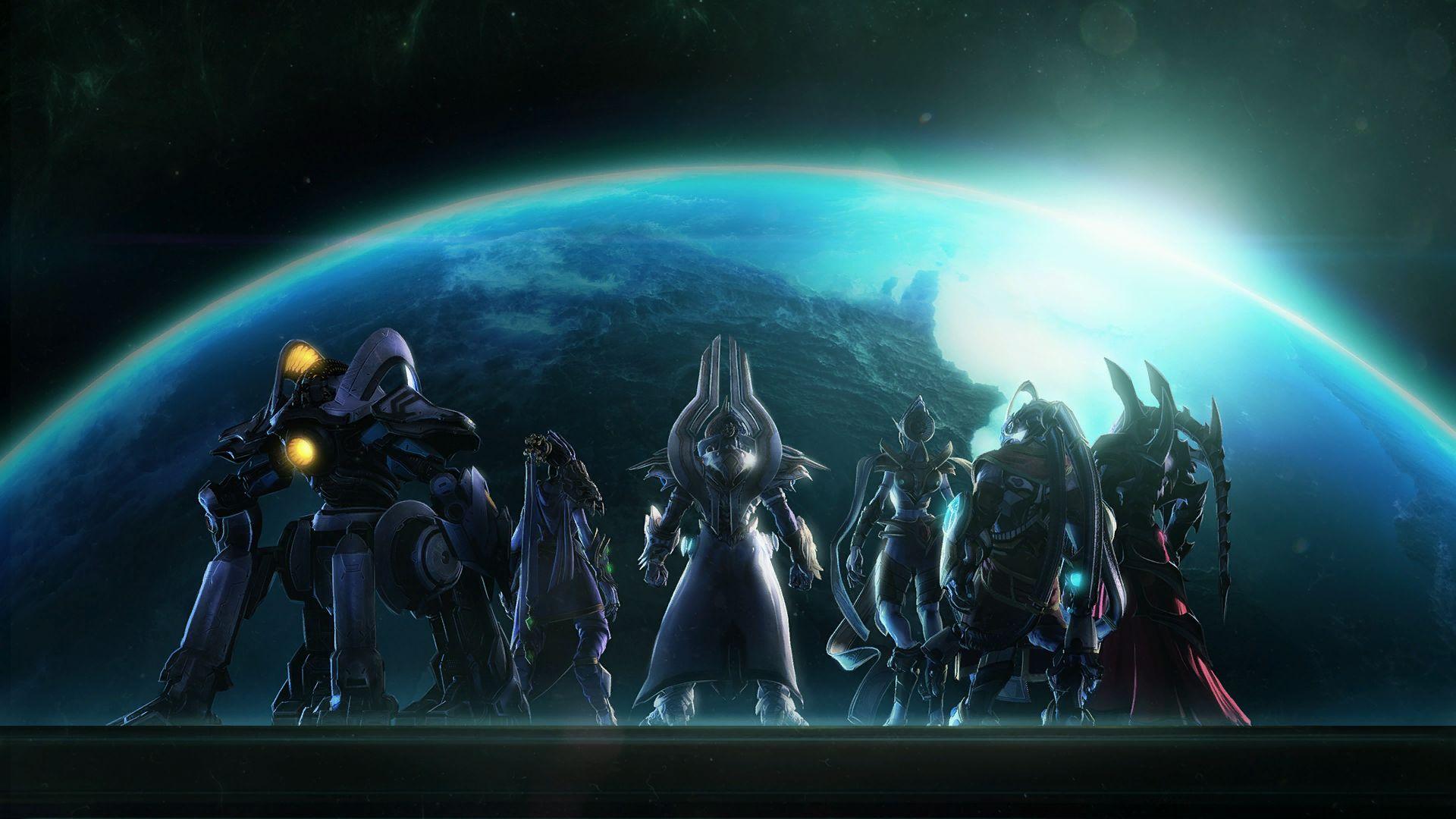 Wallpaper x px Protoss Starcraft II Terran Zerg
