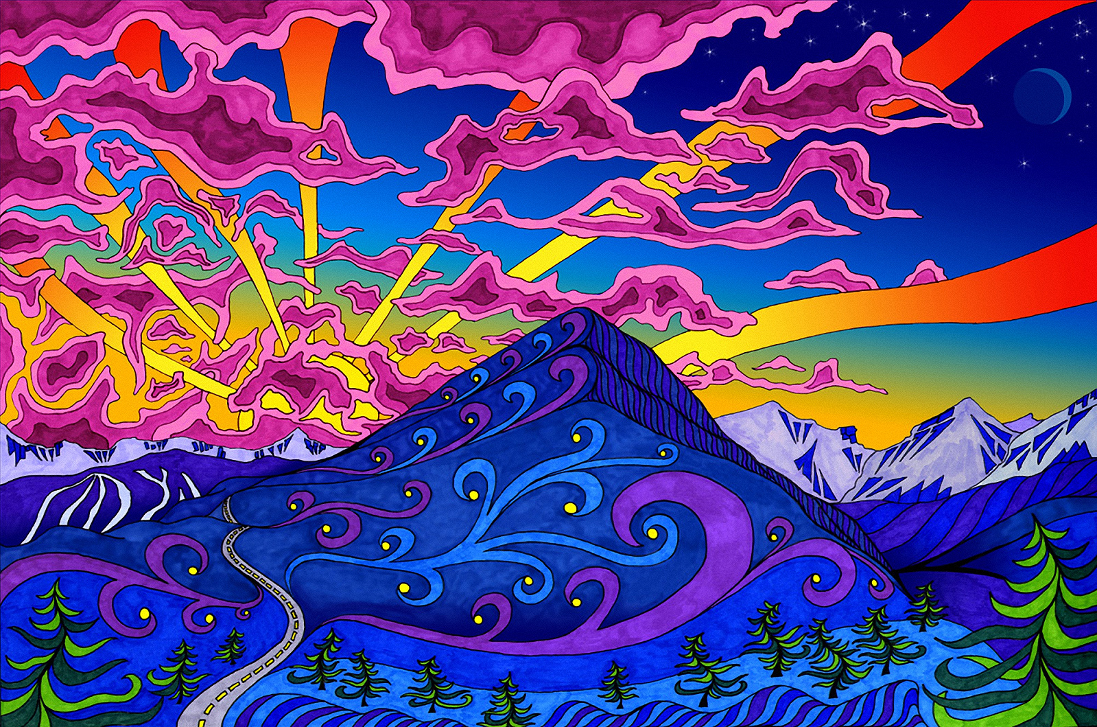Psychedelic Art Wallpaper HD - WallpaperSafari