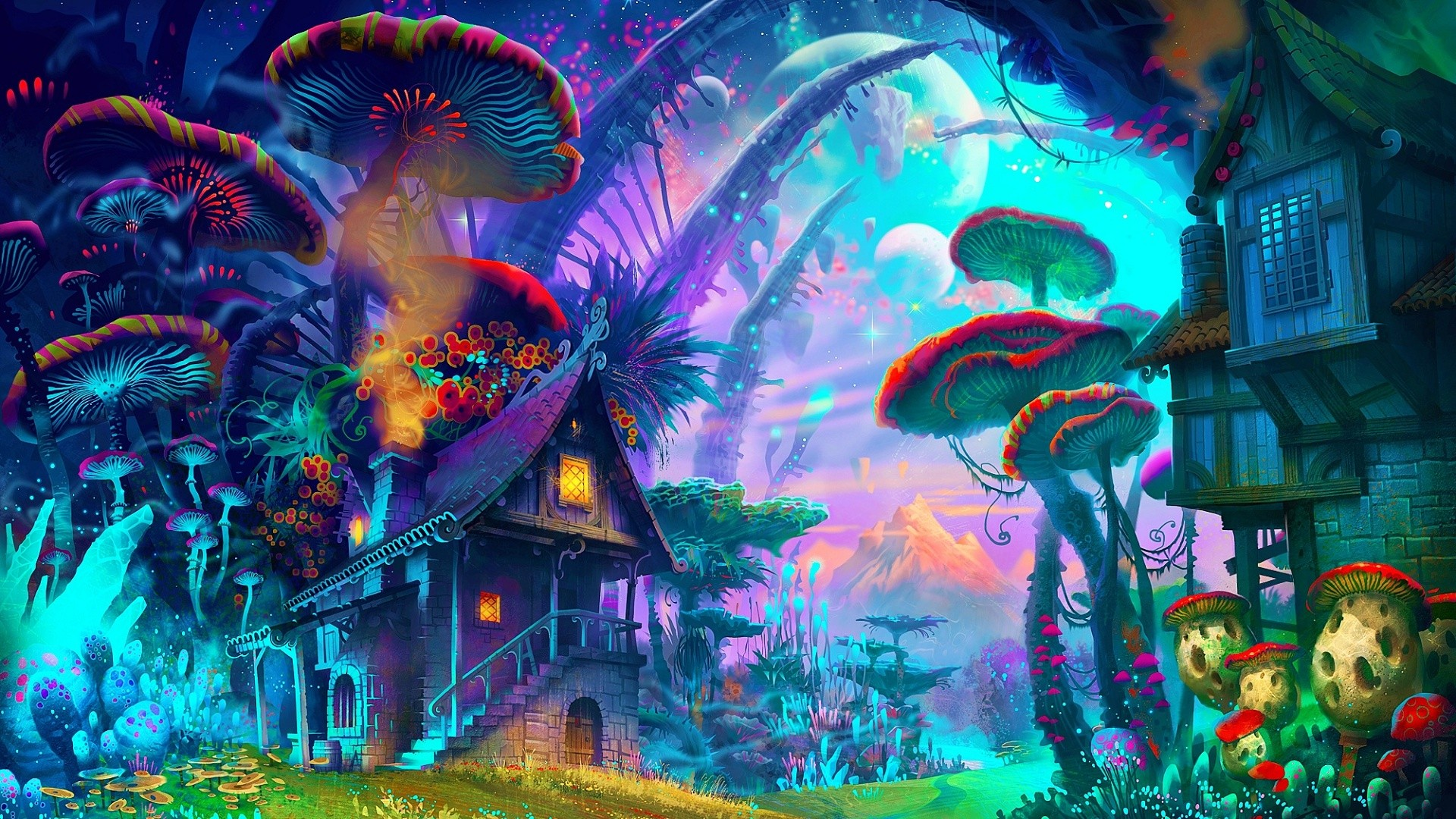 Psychedelic Art Wallpapers Group (83+)