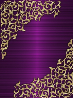 Purple And Gold Background Design Art