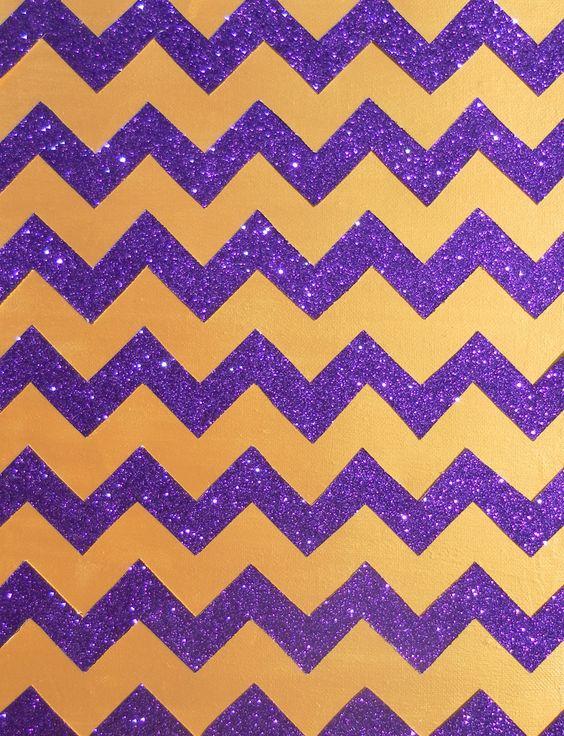 Gold and Purple Glitter Chevron | wallpapers | Pinterest | Chevron