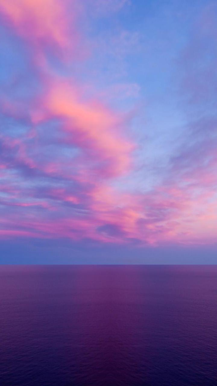 Purple Sunset Galaxy S3 Wallpaper 720x1280