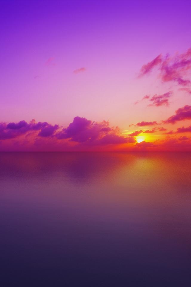 Purple Sunset IPhone Wallpaper
