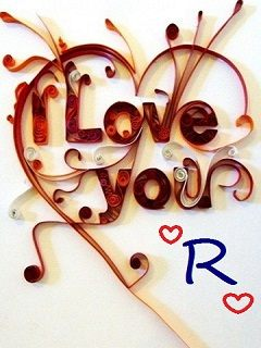 Download Love Letter R wallpapers to your cell phone - letter r