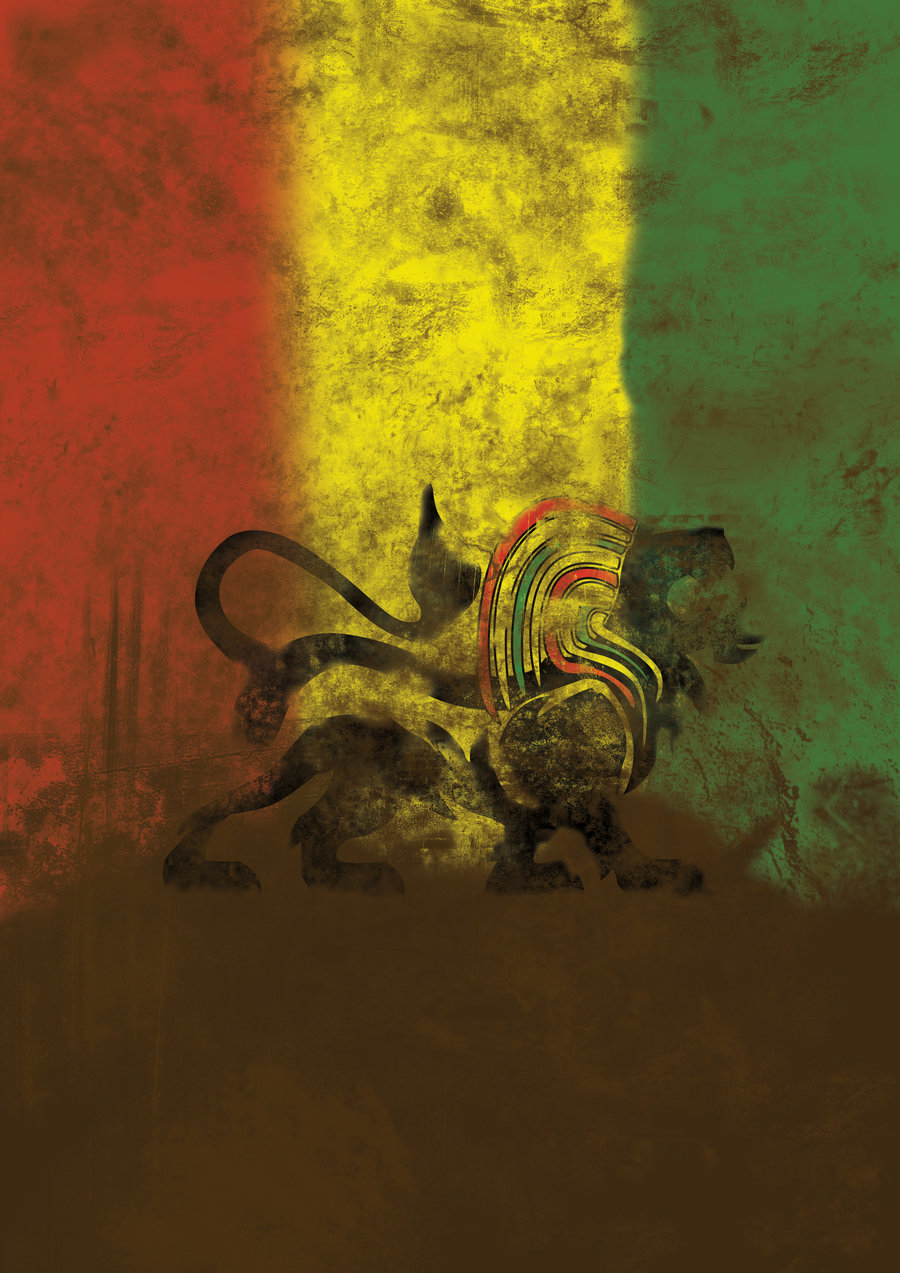 Rasta Lion Flag - wallpaper