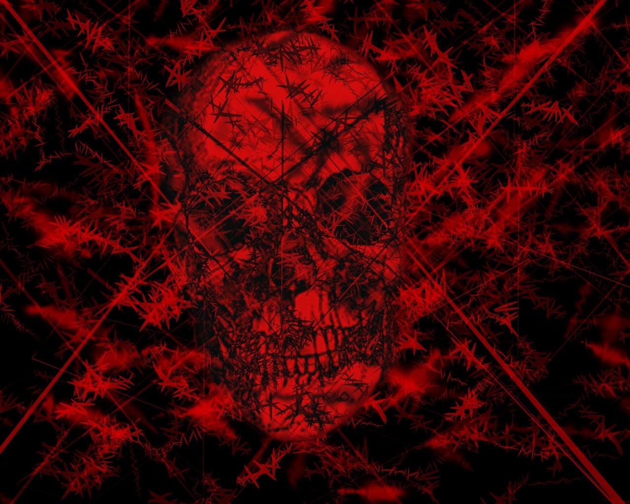 Red And Black Skull Wallpaper Sf Wallpaper