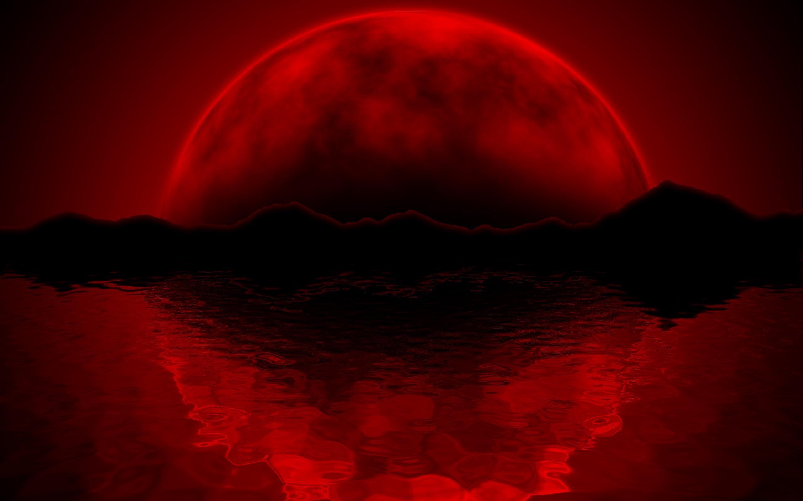 Red Moon Wallpaper - WallpaperSafari