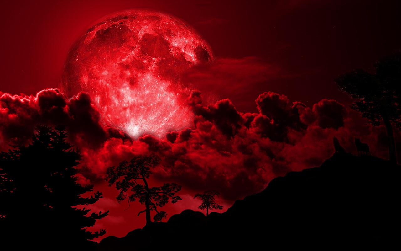 42 Red Moon Wallpapers Pictures